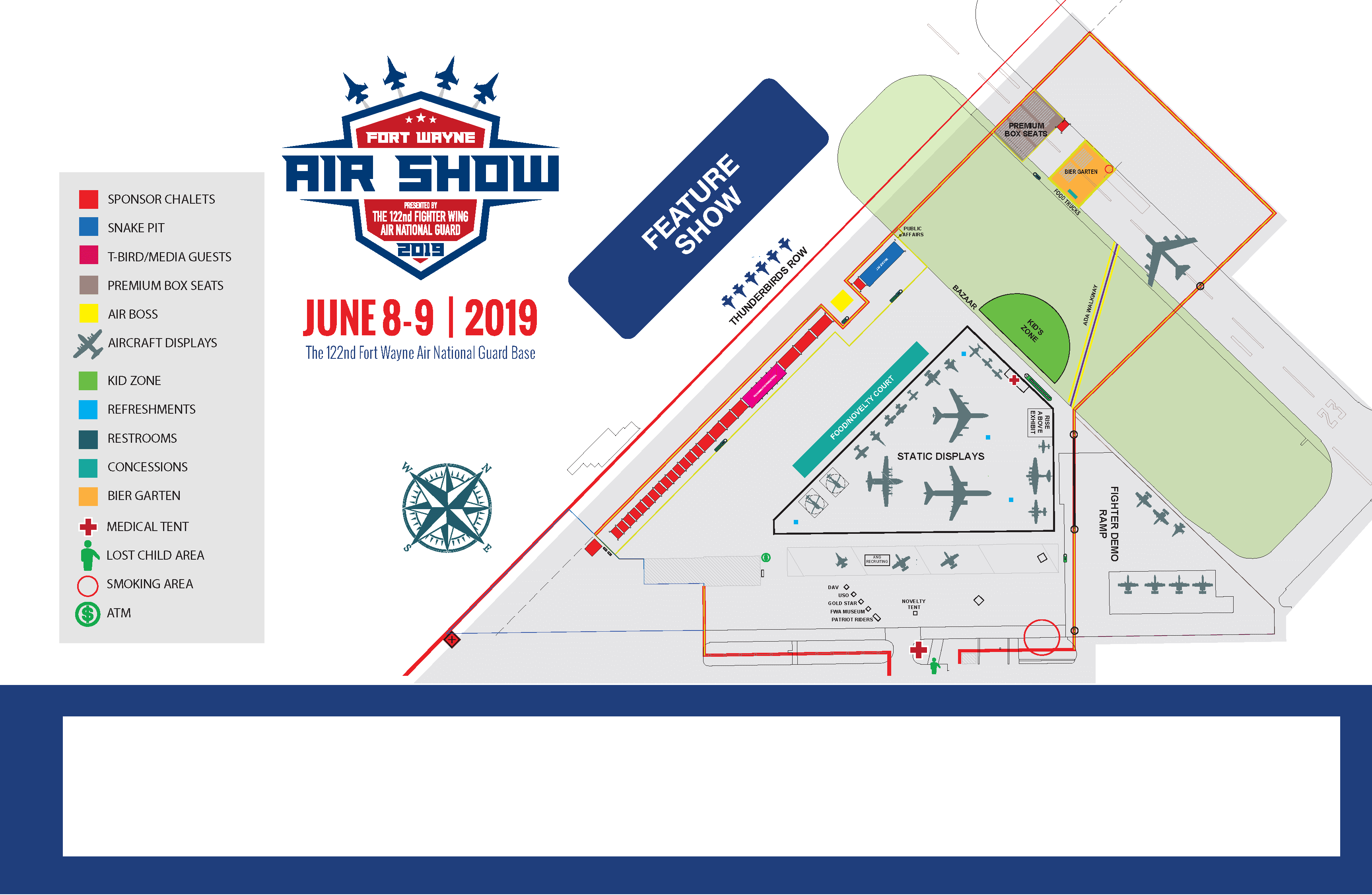 2019 Fort Wayne Air Show Event Map